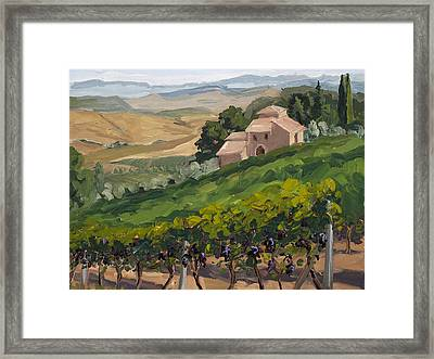 Brunello Di Montalcino Framed Print by Mary Giacomini
