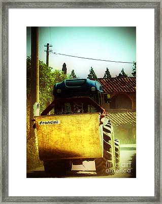 Framed Print featuring the photograph Brunello Taxi by Angela DeFrias