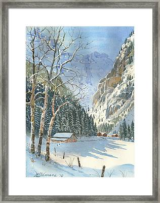 Brunni Valley In Canton Uri Framed Print