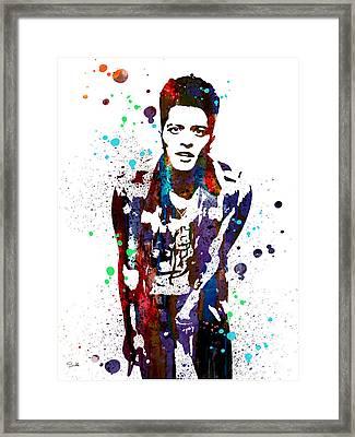 Bruno Mars Framed Print