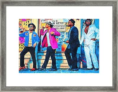 Bruno Mars - Uptown Funk 8 Framed Print