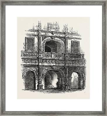 Brunswick Portal Of A House Framed Print by English School