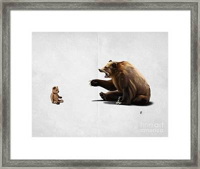 Brunt Wordless Framed Print by Rob Snow