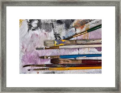 Brush Blotter Framed Print by Eric  Bjerke Sr