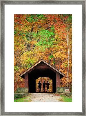 Brush Creek Covered Bridge Framed Print by Emmanuel Panagiotakis