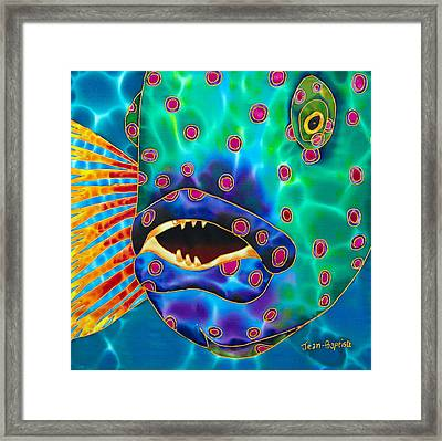 Brush Tail Wrasse Framed Print