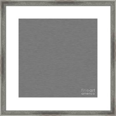 Brushed Metal Left Right Framed Print by Henrik Lehnerer