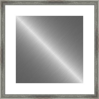 Brushed Steel Metal Texture 1 Framed Print by REDlightIMAGE