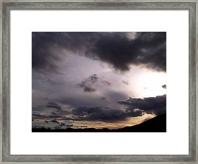 Brushing A Sunset Framed Print