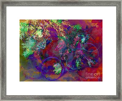 Brushing Circles  Framed Print