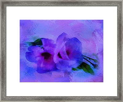 Brushing Flowers Framed Print
