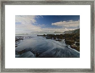 Brushing The Blue Framed Print by Aaron Bedell