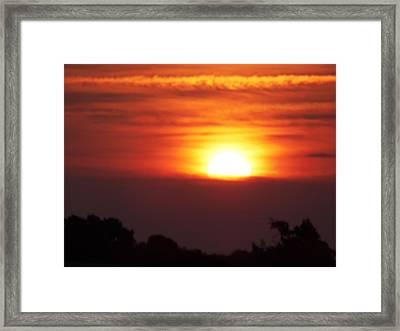 Brushstrokes At Dawn Framed Print by Condor