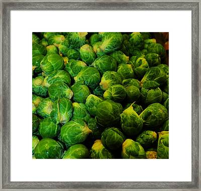 Brussel Sprouts Framed Print