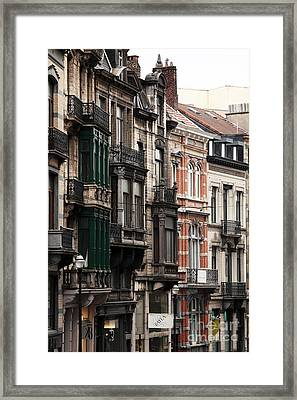 Brussels Architecture Framed Print by John Rizzuto