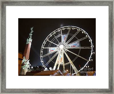 Framed Print featuring the photograph Brussels Christmas Market by Deborah Smolinske