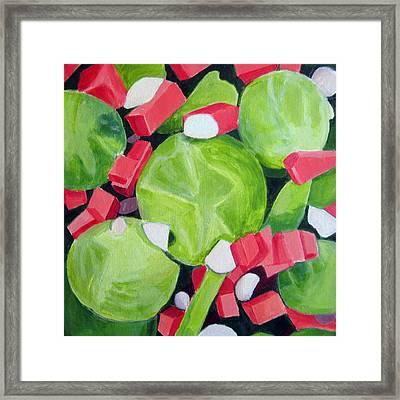 Brussels Sprout Salad Framed Print