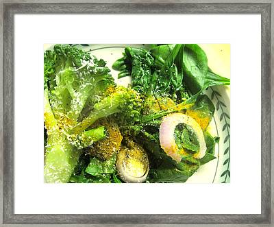 Brussels Sprouts And Turmeric Framed Print