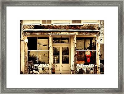 Brussels Store Framed Print by Marty Koch