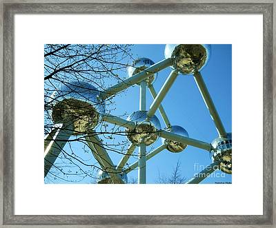 Brussels Urban Blue Framed Print by Ramona Matei