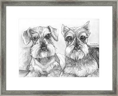 Brutus And Susie Framed Print by Shana Rowe Jackson