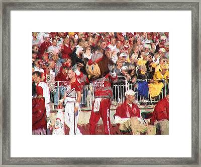 All Hail Brutus Buckeye Framed Print by Ike Krieger