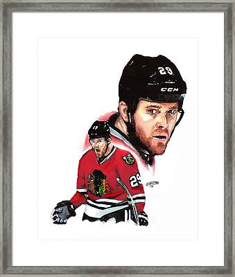 Bryan Bickell Framed Print by Jerry Tibstra