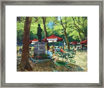 Bryant Park - The Reading Room Framed Print