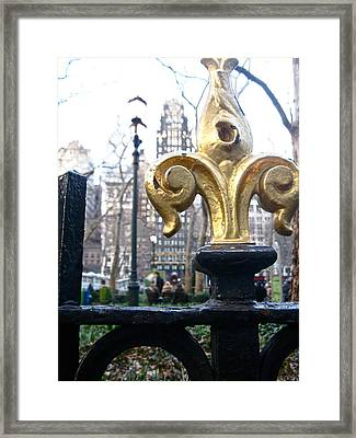 Bryant Park Framed Print by Amy  Renne