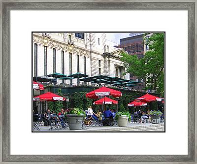 Bryant Park At Noon Framed Print by Dora Sofia Caputo Photographic Art and Design