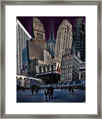Bryant Park Collage Framed Print by Chris Lord