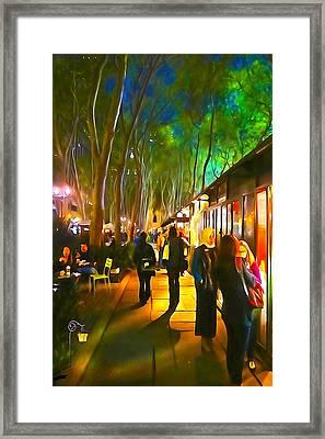 Bryant Park Evening Framed Print by Richard Trahan