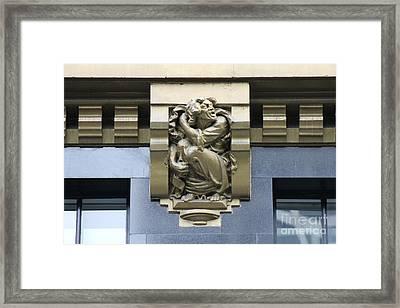 Bryant Park Hotel Gargoyle Framed Print