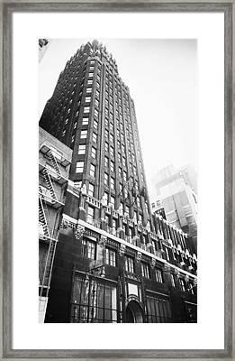Bryant Park Hotel Framed Print by Thomas Pascal