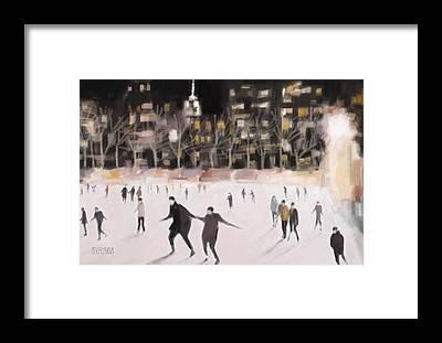 Ice Skating Framed Prints