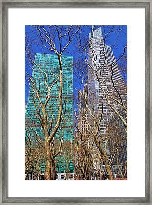 Bryant Park Framed Print by Mariola Bitner