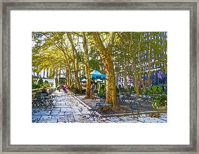 Bryant Park October Framed Print
