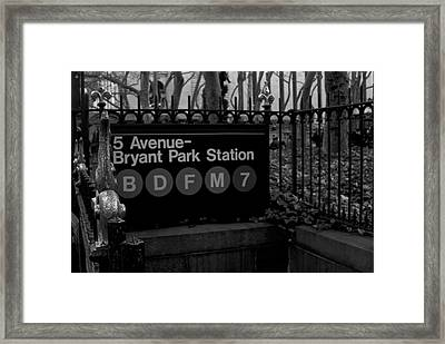 Bryant Park Station Framed Print by Mike Horvath