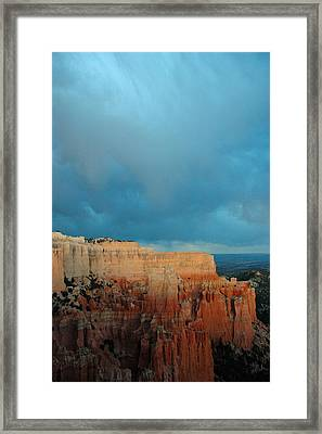 Bryce Canyon And Stormy Sky Framed Print by Bruce Gourley