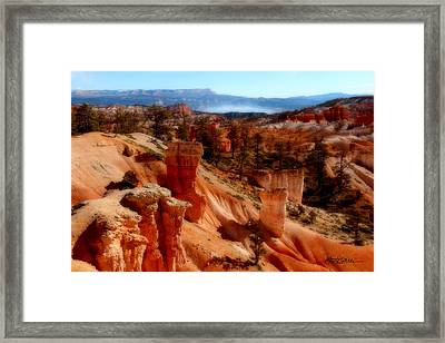 Bryce Canyon Cliff Framed Print by Marti Green