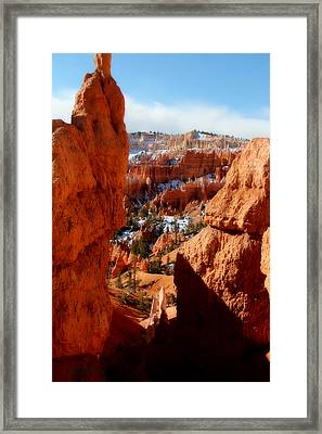 Bryce Canyon Cliff Shot Framed Print by Marti Green