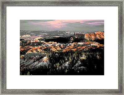 Bryce Canyon In Evening Light Framed Print