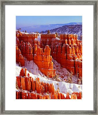 Bryce Canyon In Snow Framed Print