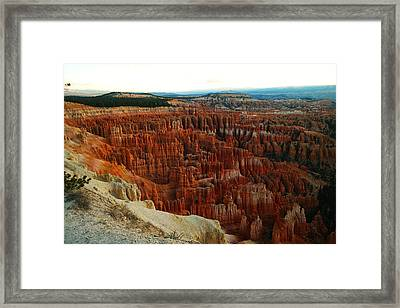 Bryce Canyon In The Afternoon Framed Print