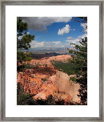 Framed Print featuring the photograph Bryce Canyon by Jon Emery