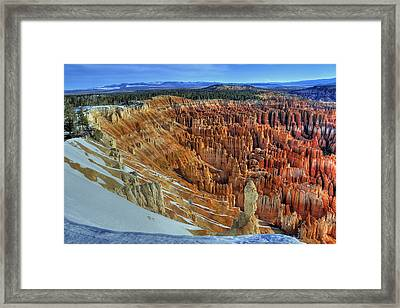 Framed Print featuring the photograph Bryce Canyon Sunrise by Dan Myers