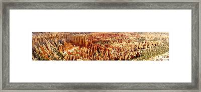 Framed Print featuring the photograph Bryce Canyon Utah Panoramic by Kathy Churchman