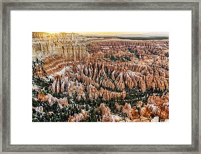 Bryce Point Sunset Framed Print by Harry H Hicklin
