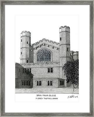Bryn Mawr College Framed Print by Frederic Kohli