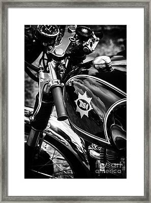 Bsa Black Cafe Racer Framed Print